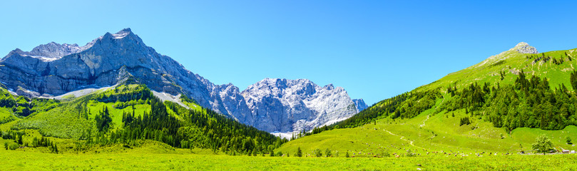 Wall Mural - mountain at the eng alm in austria