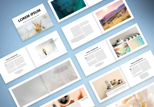 Minimal and Modern Landscape Magazine Layout