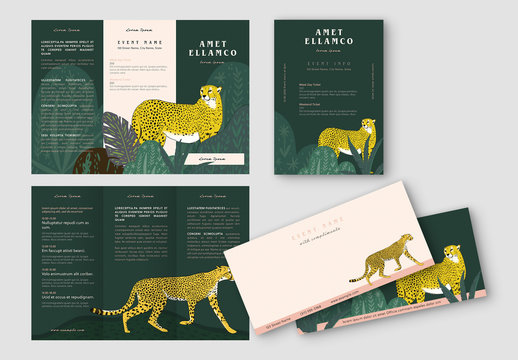 Event Stationery Set with Illustrations