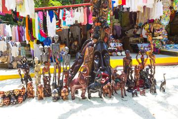 LABADEE, HAITI - MAY 01, 2018: Handcrafted Haitian Souvenirs