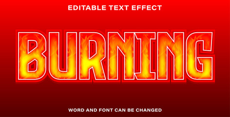 Wall Mural - burning text effect