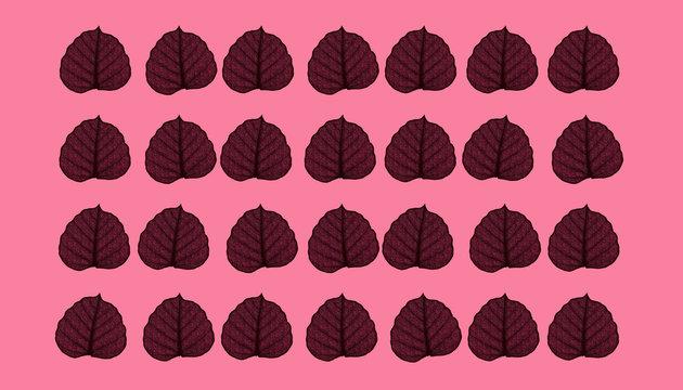 Leaf natural background concept 3d rendering