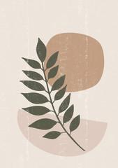 Botanical print boho minimalist printable wall art