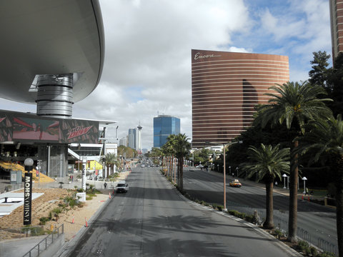 Las Vegas Boulevard by the Fashion Show Mall and Encore Hotel