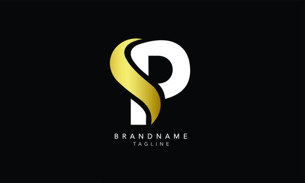 Alphabet letters Initials Monogram logo SP, PS, S and P