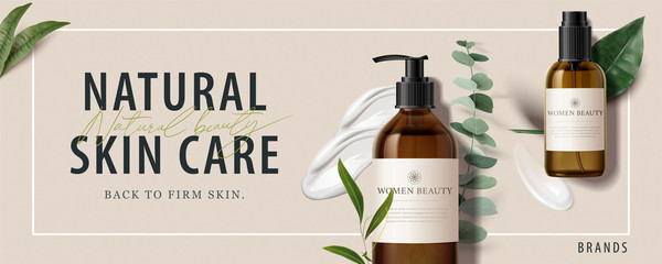 Ad banner for beauty product