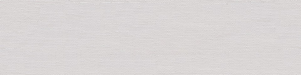 Fototapeta Linen canvas background for your interior in classic white color. Seamless panoramic texture.