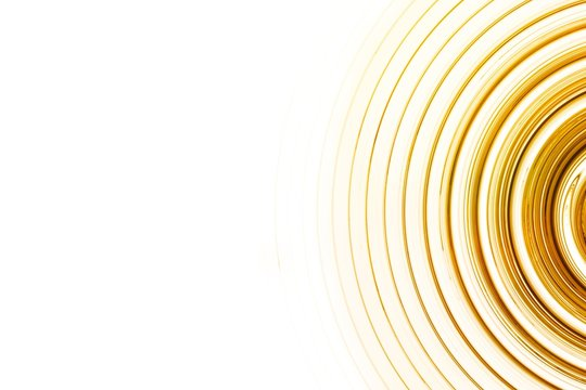 Ripple, sound or sonar waves. Yellow and gold abstract background for design.