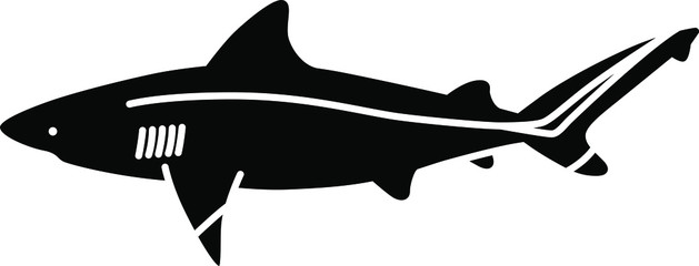 An icon illustration of a Bull Shark