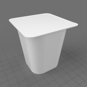 Square yogurt cup