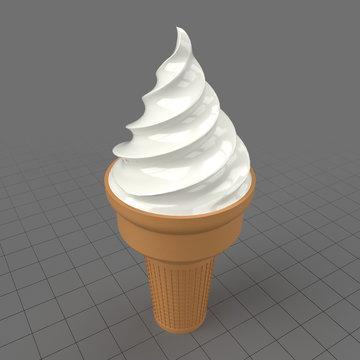 Stylized ice cream cone