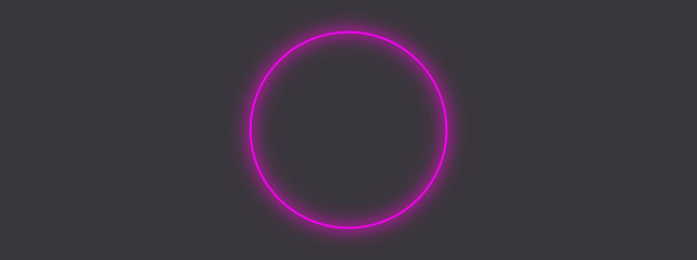 Abstract purple circle glowing neon light background