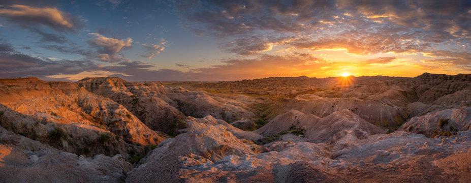 South Dakota Sunset Panorama