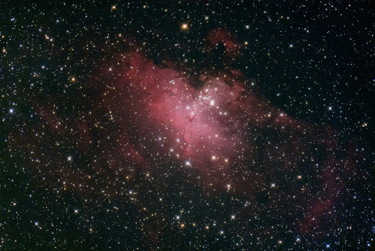 M16 The Eagle nebula with the pillars of creation at its centre.