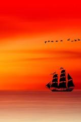 Photo sur Plexiglas Rouge Os Piratas