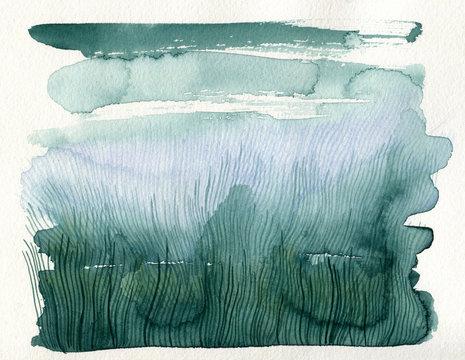 Sea weed watercolor texture