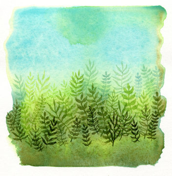 Lovely watercolor plants