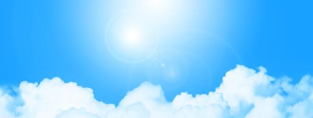 Photo sur Plexiglas Piscine Blue sky and clouds panoramic shot 5619