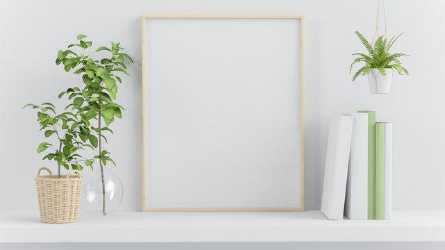 Frame mock up on a shelf