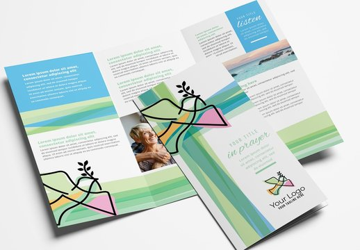 Modern Church Trifold Brochure Leaflet