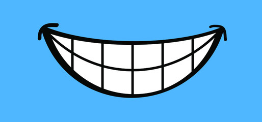 Slogan Hello or happy blue monday with smile Vector icon sign The most depressing day of the year The day commit suicide and depression motivation, third monday January Funny sadness cartoon smiling