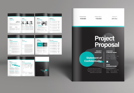 Business Project Proposal Booklet Layout