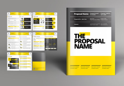Business Proposal Booklet Layout