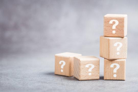 Question Wood Blocks