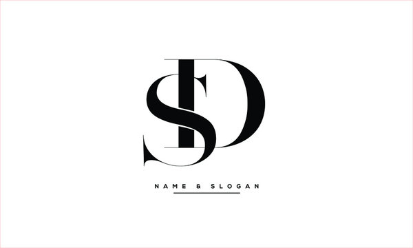 SD, DS, S, D abstract letters logo monogram