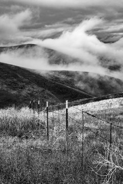 Clouds Moving over the Hill Country in the Palouse, WA