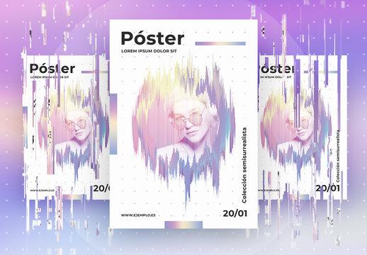 Maqueta de póster Futuro Adelante