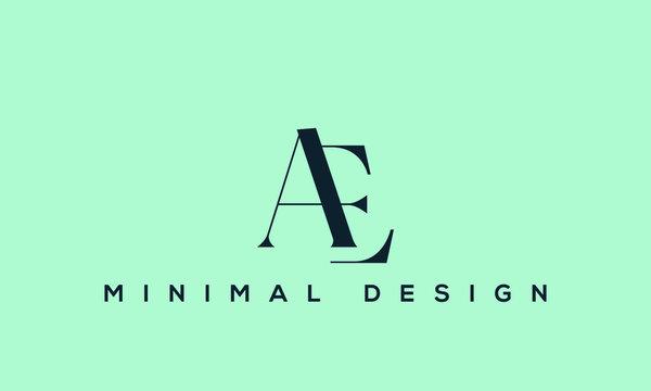 AE letter logo alphabet monogram icon symbol