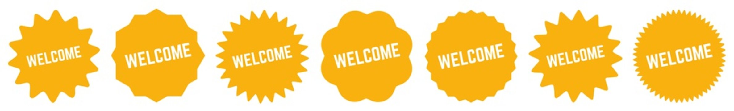Welcome Tag Black | Icon | Sticker | Label | Variations