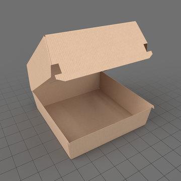 Open fast food box
