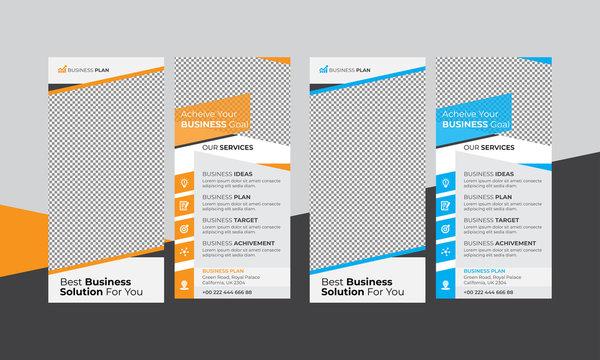 Creative print-ready Dl Rack Card Flyer for advertisement