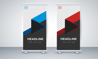 Corporate roll up banner design template