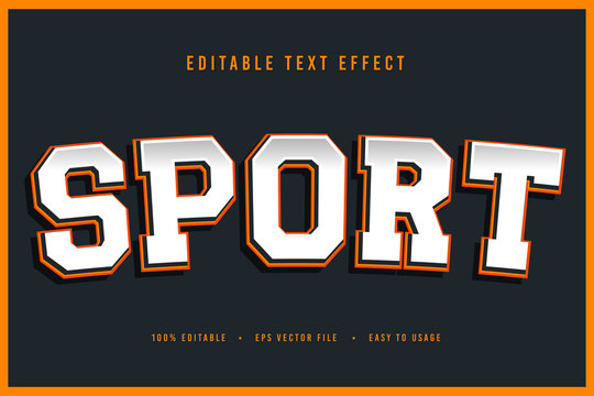 decorative sport Font and Alphabet vector