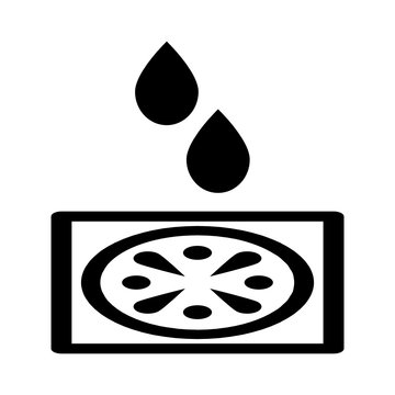 Floor drain sanitation icon