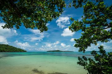 beach view in koh ta kiev island near sihanoukville cambodia