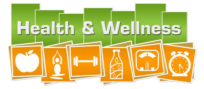 Health And Wellness Green Yellow Squares Health Symbols Bottom
