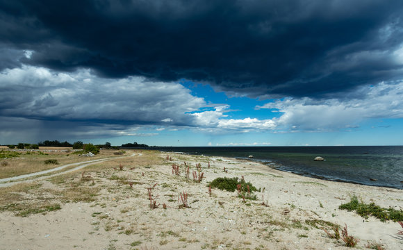 A storm is approaching the east coast of the island of Öland