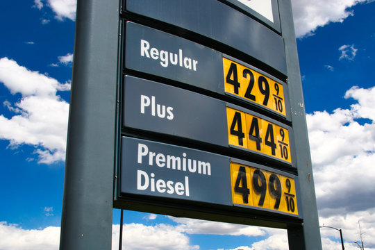 Sky High Gas Price Sign - Premium Diesel $4.99 a Gallon