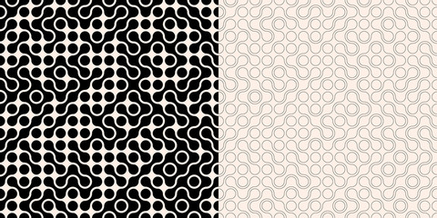 Two abstract seamless backgrounds with randon connected dots