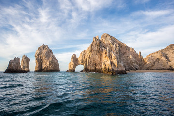 The arch of Cabo San Lucas, is a distinctive rock formation at the southern tip of Cabo San Lucas, which is itself the extreme southern end of Mexico's Baja California Peninsula.  Fotomurales