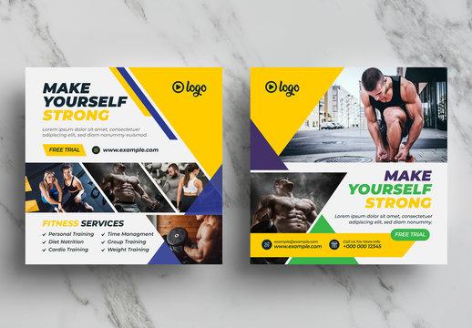 Fitness Social Media Banner Pack
