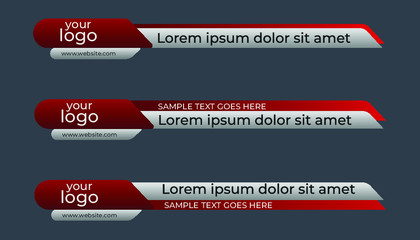 Creative vector illustration of lower third broadcast banner, Lower third banners.
