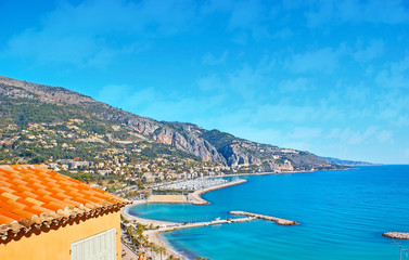 The coast of Menton