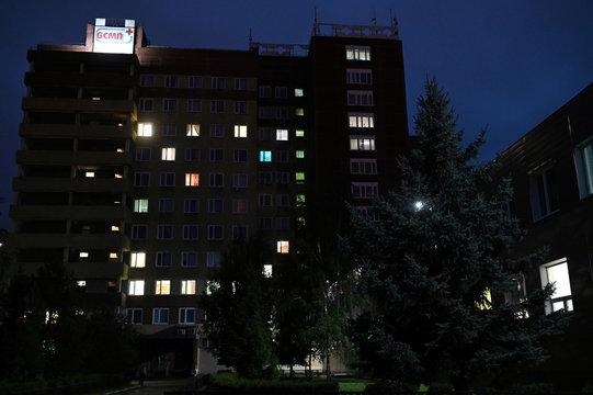 A view shows a hospital where Russian opposition leader Navalny was admitted, in Omsk
