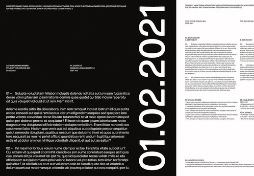 Minimal Business Proposal and Quotation Layout