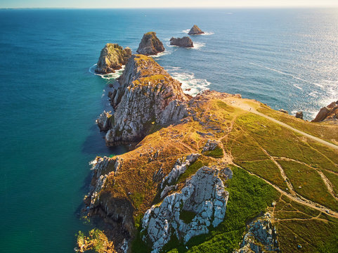 Scenic view of Crozon peninsula, one of the most popular tourist destinations in Brittany, France
